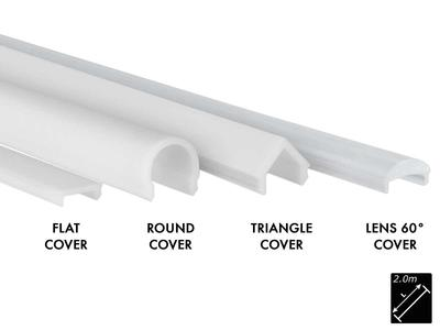 PLASTIC COVER S-LINE FLAT MILKY (OPAL), BREAK PROOF, 2m