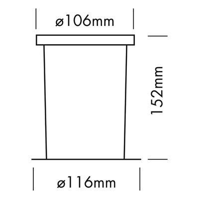 PVC KUNSTSTOFFEINBAUTOPF INGROUND ADVANCED SMALL