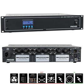 19'' 12CH DMX NETZTEIL X3 4G 3x 12 V - 3x 90 W - Common Cathode