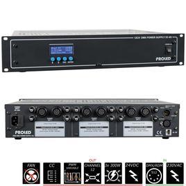 19'' 12CH DMX NETZTEIL X3 4G 3x 24 V - 3x 300 W - Common Cathode