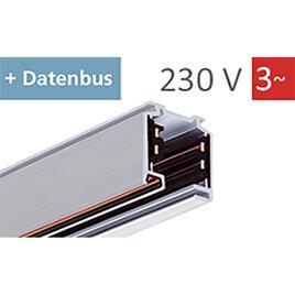 STROMSCHIENE 3-PHASEN 230V mit DATA-BUS, schwarz, 1m