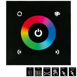 GLASS TOUCH PWM DIMMER RGB 3x 4A, weiss