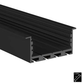 ALU PROFILE L-LINE REC 24 ST schwarz 2m