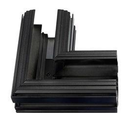90° ECKE HORIZONTAL STROMSCHIENEN RANDLOS LaVilla 48, schwarz, 5cm