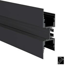 ALU PROFILE M-LINE 3W schwarz 3m