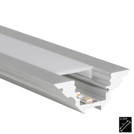 ALU PROFILE M-LINE CORNER silber 2m