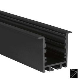 ALU PROFILE M-LINE REC 24 ST schwarz 2m