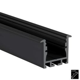 ALU PROFILE M-LINE REC 24 schwarz 2m