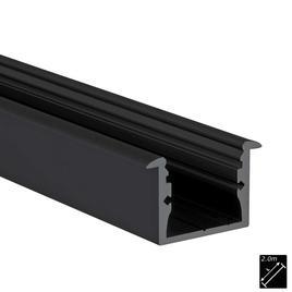 ALU PROFILE M-LINE REC schwarz 2m