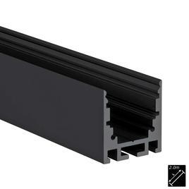 ALU PROFILE M-LINE STANDARD 24 schwarz 2m