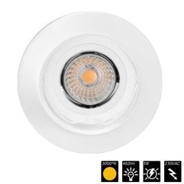 DOWNLIGHT MASTERS LED GU10, 230VAC, 38°, nicht verstellbar, weiss, 3000K