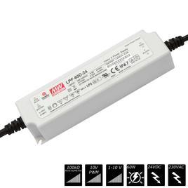 MEAN WELL SCHALTNETZTEIL BASIC dimmbar IP67 24 VDC - 60 Watt