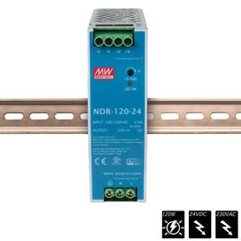 MEAN WELL SCHALTNETZTEIL DIN RAIL PLUS 24 VDC - 120 Watt