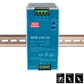 MEAN WELL SCHALTNETZTEIL DIN RAIL PLUS 24 VDC - 240 Watt