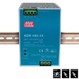 MEAN WELL SCHALTNETZTEIL DIN RAIL PLUS 24 VDC - 480 Watt