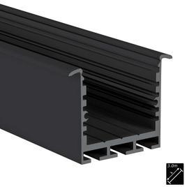 ALU PROFILE SQ-LINE REC 24 schwarz 3m