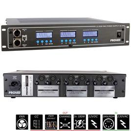 19'' X3 RGB DMX NETZTEIL 3G 3x 12 V - 3x 180 W - Common Cathode