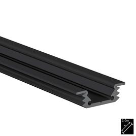 ALU PROFILE S-LINE FLAT REC schwarz 2m