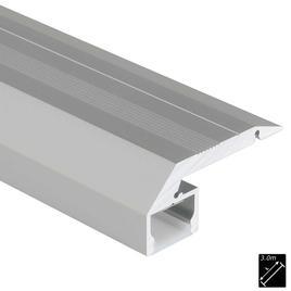 ALU PROFILE S-LINE STEP DOWN silber 3m