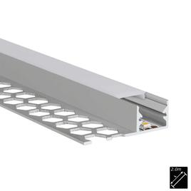 ALU PROFILE S-LINE TILES 10mm silber 2m