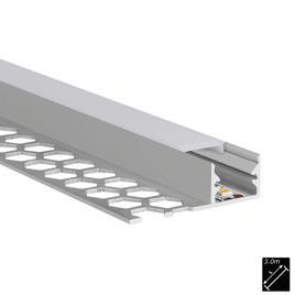 ALU PROFILE S-LINE TILES 10mm silber 3m