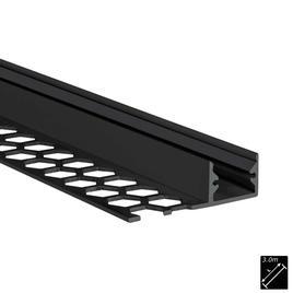 ALU PROFILE S-LINE TILES 10mm schwarz 3m