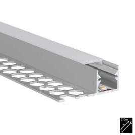 ALU PROFILE S-LINE TILES 13mm silber 2m