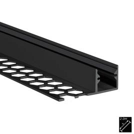 ALU PROFILE S-LINE TILES 13mm schwarz 2m