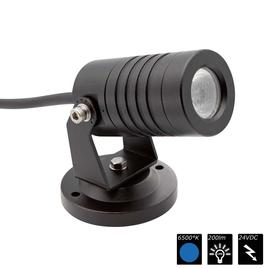 SPOT LIGHT IP65 1x 3 Watt MONO 15° schwarz, CW