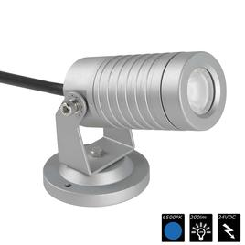 SPOT LIGHT IP65 1x 3 Watt MONO 15° silber, CW