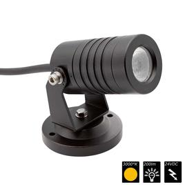 SPOT LIGHT IP65 1x 3 Watt MONO 30° schwarz, WW