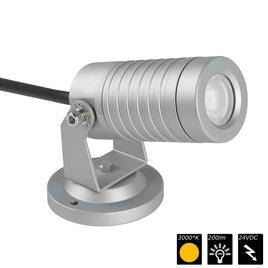 SPOT LIGHT IP65 1x 3 Watt MONO 30° silber, WW