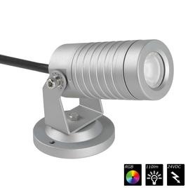 SPOT LIGHT IP65 1x 3 Watt TRILED silber