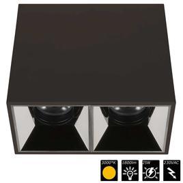 PERFORMANCE XS CUBO DUO schwarz, refl. chrom schwarz, 25°, WW